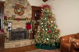 rustic christmas tree traditional living room atlanta by