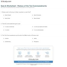 ten resume writing commandments quiz worksheet history of the ten commandments study
