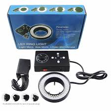 ring light 62mm 72 led microscope camera illuminator flash lens 95