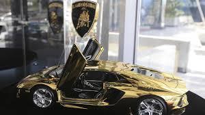 gold plated lamborghini aventador gold lamborghini aventador lp 700 4 model yours for 16 times the