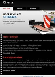 website templates for ucoz movie