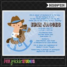 baby shower cowboy personalized invitation