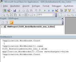 closed workbooks still appear to be open in vbe memory issues