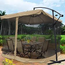 Patio Offset Umbrellas Yescom 9 Outdoor Patio Offset Umbrella W