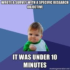 Short Memes - success kid short survey meme the lovestats blog
