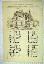 gothic victorian mansion floor plan historic house plans fine