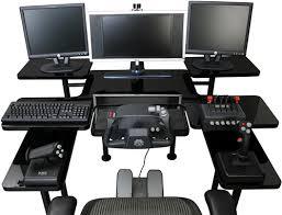 multi tiered computer desk multi tiered pro gaming table ohgizmo