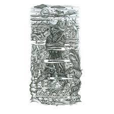grimreaper half sleeve design tattoowoo com tats nd