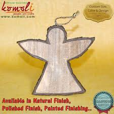 polished wooden star christmas hanging christmas flat ornaments