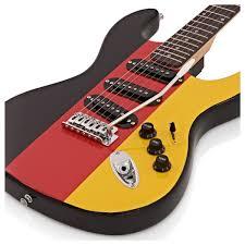 Germman Flag La Electric Guitar By Gear4music German Flag At Gear4music Com