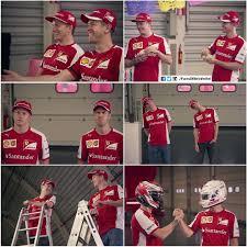 Sebastian Vettel Meme - shots from sebastian vettel and kimi raikkonen being prepared for
