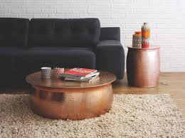 Red Round Coffee Table - coffee table inspiring hammered coffee table designs copper end