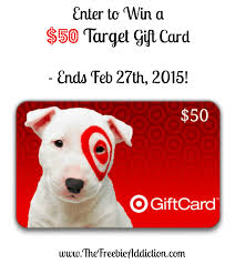 how to win gift cards win a 50 target gift card giveaway ends 2 27