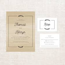 olive branch with border wooden wedding invitations sail and