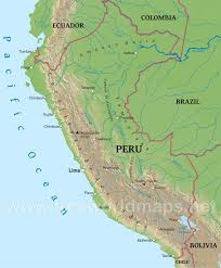 chile physical map peru physical map