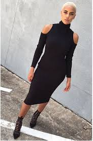 dress cold shoulder dress black dress fall black