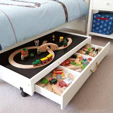 Kids Activity Table With Storage Furniture Creative Underbed Play Table With Drawers Heavy Duty
