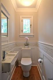 bathroom wall design white board and batten wainscot with glass tile inlay by gwen