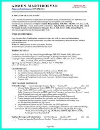Sample Resume For Dot Net Developer Experience 2 Years Content Of A Cover Letter Examples Free Assistance With Cv And