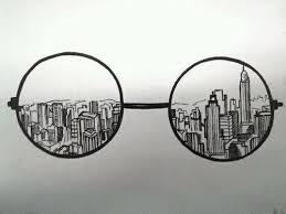 imagen de city glasses and drawing dibujo 2 pinterest