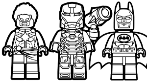 lego batman vs lego captain marvel vs lego war machine coloring