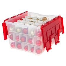 plastic lid christmas ornament storage box at home at home