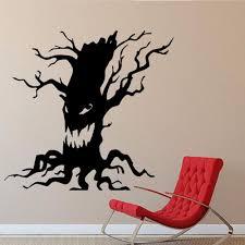 scary spooky tree wall sticker halloween funny ghost tree face