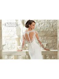wedding dress lace back and sleeves mori 5306 lace sleeve ivory dress shaped back detail