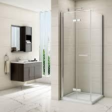 Merlin Shower Doors Merlyn 8 Series Frameless Hinged Bifold Door Shower Enclosure