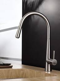 stainless steel kitchen faucet ruvati rvf1221bn single handle pull kitchen faucet stainless