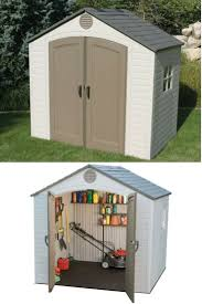 Suncast Resin Glidetop Outdoor Storage Shed by Backyard Storage Solutions Reviews Home Outdoor Decoration