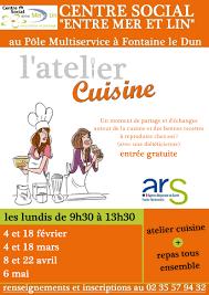 affiche atelier cuisine atelier cuisine à fontaine le dun veille nutrition