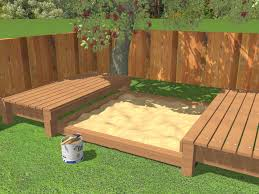 How To Build A Bench In A Shower How To Build A Sandbox With Pictures Wikihow