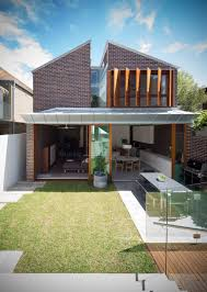 two storey house split in two by carterwilliamson architects
