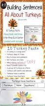 thanksgiving kids printables building sentences turkey facts kid kindergarten and for kids