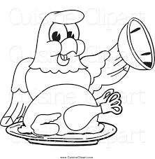 cuisine clipart of a black and white bald eagle hawk or falcon