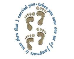 footprints poem etsy