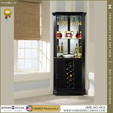 Black Bar Cabinet 690003 Howard Miller Black Wine Bar Corner Cabinet Piedmont Ii