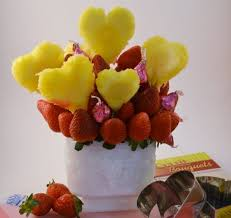 fruit flower bouquets fruit bouquet strawberry and pineapple bouquets rada