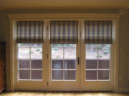 modren roman shades for french doors sliding patio and ideas