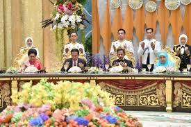 sultan hassanal bolkiah presiden dan ibu iriana hadiri perayaan 50 tahun sultan hassanal