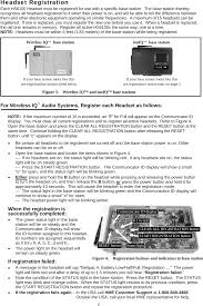 hs6100 headset for wireless intercom system user manual template