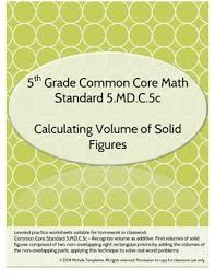 5 md c 5c volume of solid figures worksheet by mrs templeton tpt