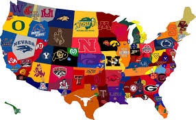 A Map Of The Usa by Map Of The Day Best Sports Colleges In The Usa Shoe Untied