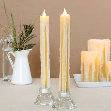 decorating 11 inch flameless candles with timer for home