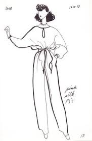 original fashion sketch 40s 50s fashion sketches colors and we