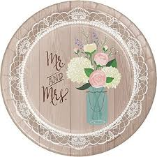 bridal shower plate to sign bridal shower paper plates and napkins