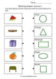 shape matching worksheets free worksheets library download and