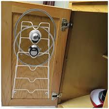 kitchen cabinet door pot and pan lid rack organizer evelots pot lid storage cabinet door wall organizer 6 pot pan covers no scratch