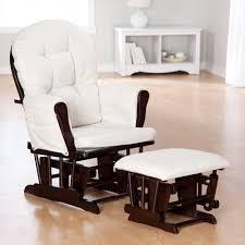Nursing Rocking Chair Storkcraft Bowback Glider Rocker U0026 Ottoman Set Espresso Beige